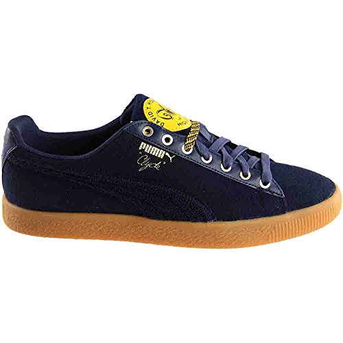 Puma Mens Clyde Wool Bhm Puma New Navy / Spectra Yellow