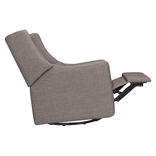 41HRi%2BuHmEL - Babyletto Kiwi Electronic Power Recliner And Swivel Glider With USB Port In Grey Tweed, Greenguard Gold Certified