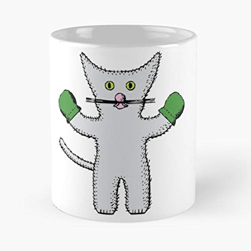 Kitten Mittens Clip Art -funny Gifts For Men And Women Gift Coffee Mug Tea Cup White-11 Oz.