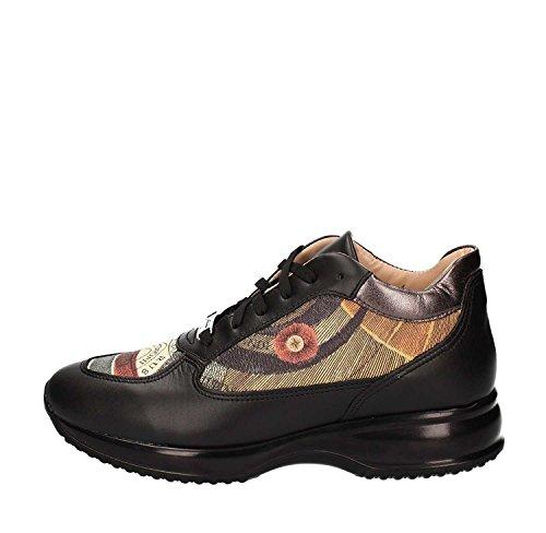 GATTINONI PIGAT6085WHB,scarpe donna, sneakers similar hogan, fantasia planetario, pelle (35, Black/classic)