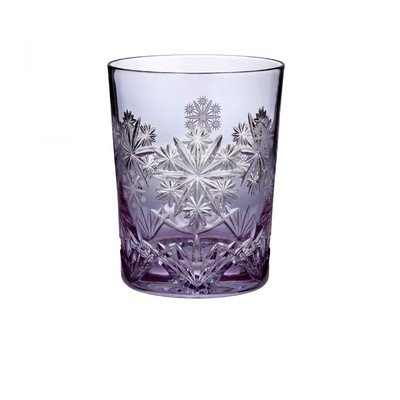 Waterford Snowflake Wishes 2016 Serenity Leana Lavender Double Old Fashioned Glass