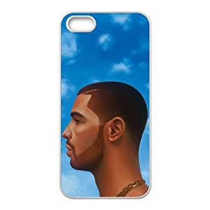 Drake Head Illustration Blue Sky Clouds case ,TPU Phone case for iphone5 5s,white
