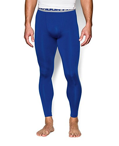 Under Armour Men's HeatGear Armour Compression Leggings, Royal /Steel, XXX-Large by Under Armour (Image #2)
