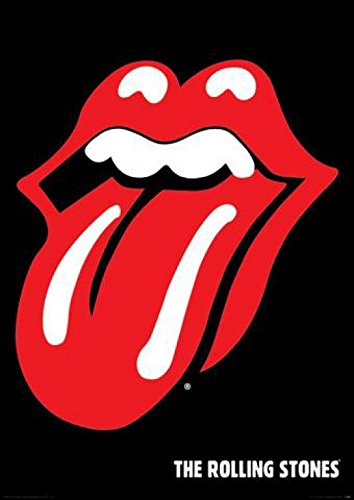 1art1 1 X Rolling Stones Tongue and Lip Logo Music Poster Print