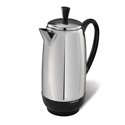 Electric Percolator Coffee Pot - Farberware 12-Cup Percolator, Stainless Steel, FCP412