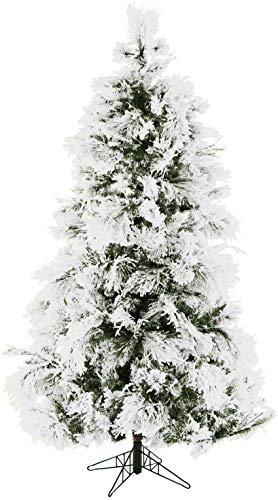 - Fraser Hill Farm 12 Ft. Flocked Snowy Pine Christmas Tree,