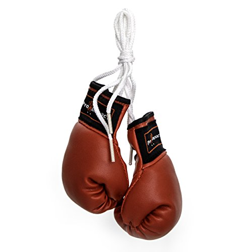 Pro Impact Mini Boxing Gloves - Miniature Punching Gloves - Hanging Decoration or Souvenir Display - for Home & Car Use - 1 Pair (Red)]()