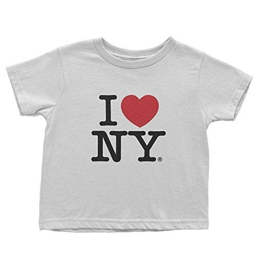 I Love NY New York Kids Short Sleeve Screen Print Heart T-Shirt White Large (.