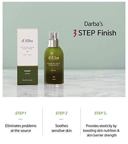 Korean Cosmetics White Truffle Peptide Sensitive Skin Repair Cream for Acne, Eczema, Psoriasis Sensitive Skin and Sebum Remover All Natural Ingredients