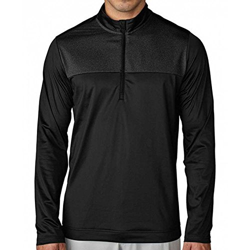 adidas Climawarm Novelty 1/4 Zip Layering Golf Pullover 2016 Black Small (Golf Adidas Climawarm)