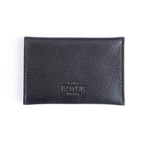 Royce Black Genuine Leather Envelope Card Case 425-BLACK-5