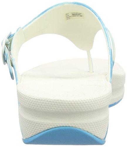 Fitflop Super Jelly - Chanclas al dedo Mujer Ceramic Blue