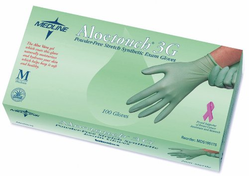 MDS195174 - Aloetouch 3G PowderFree LatexFree Synthetic Exam Gloves,Small
