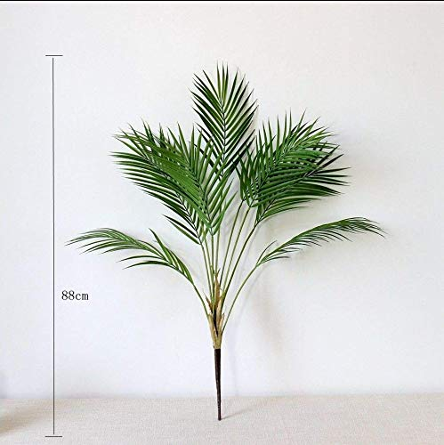 2.88 FT Artificial Palm Tree Plants Plastic Branch Tropical Fake Indoor Plastic Plants Tree Home Garden Decor No Pot (L)