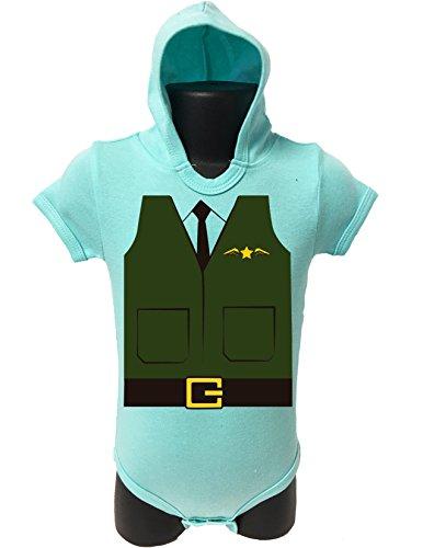 BABY Hoodie Bodysuit Onesie Romper UNISEX HALLOWEEN FUNNY Comes Gift Wrapped (6-12 MONTHS, GREEN (Ideas Para Decorar Cupcakes De Halloween)