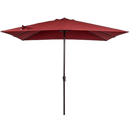 Merveilleux Sundale Outdoor 8X11 Ft Rectangular Patio Umbrella Table Market Umbrella  With Crank Lift For Garden,