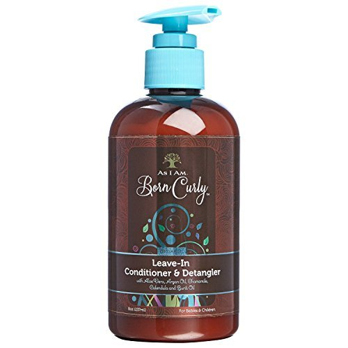I Am Born Curly Argan Leave In Conditioner & Detangler 8oz, 8 Oz by AS I AM