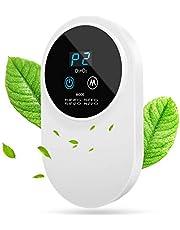 ACADGQ luchtreiniger, luchtreiniger, huisluchtreiniger, stil, ozongenerator, luchtreiniger, met led-display, antibacterieel, 99% ontgeuring, voor kantoor en auto