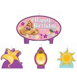 Mini Molded Cake Candles (Disney Tangled Mini Molded Candles - 4/Pkg.)