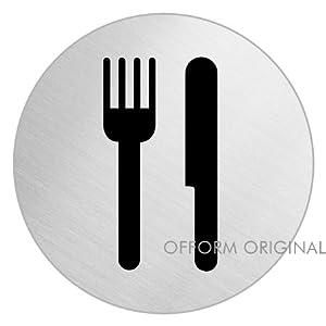 OFFORM Stainless Steel Door Sign Dining Room 75 Mm 8499