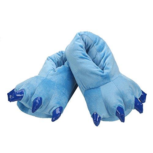 Chaussons Monstre Cosplay Rôle de Animal Bleu Pattes Unisexe de Fête Pantoufles Costumes Jeux Hiver en Peluche AwYAqHrT