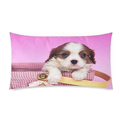 Bonito diseño de perro de impresión Popular personalizada rectangel almohada 20 x 36 pulgadas, decorativo