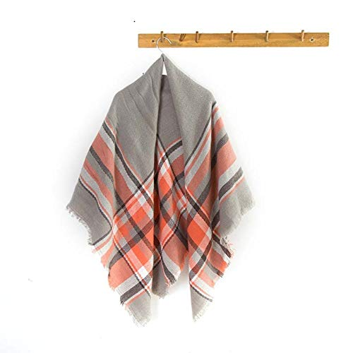 Beydodo Wool Scarf Thick 140x140CM Tartan Scarf Wool Scarves Tartan Fall Scarf Blanket -