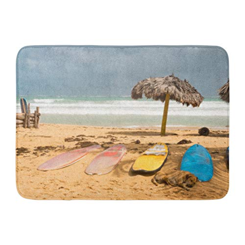 Aabagael Bath Mat Beautiful Blue Asia Surfboards on the Beac