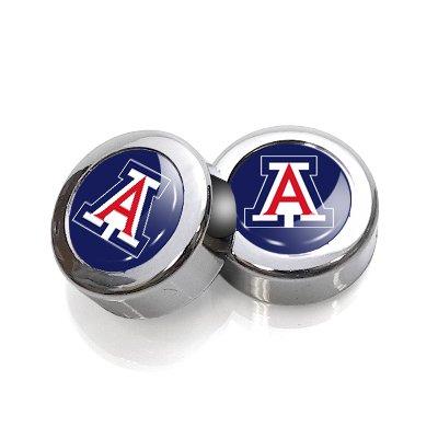 University of Arizona Wildcats License Plate, Frame Chrome Screw Covers ST