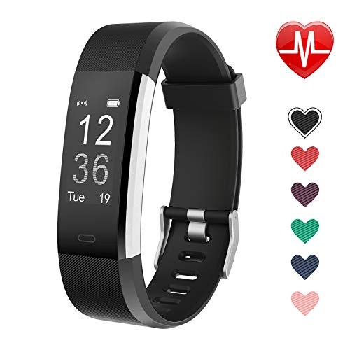 LETSCOM Fitness Tracker, Activity Tracker with Heart Rate Monitor, Step Counter, Sleep Monitor, Calorie Counter, Pedometer, IP67 Waterproof, Smart Watch for Kids Women and -
