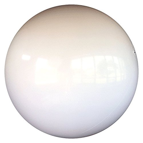 10-FT Deflated Size Solid White P7 Beach Ball