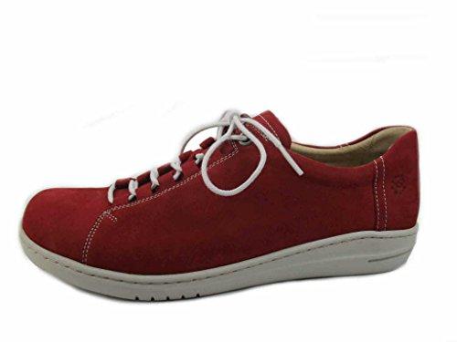 Mujer 5500 Cordones Zapatos Para 30862 Hartjes Rojo De Piel 574T01qw