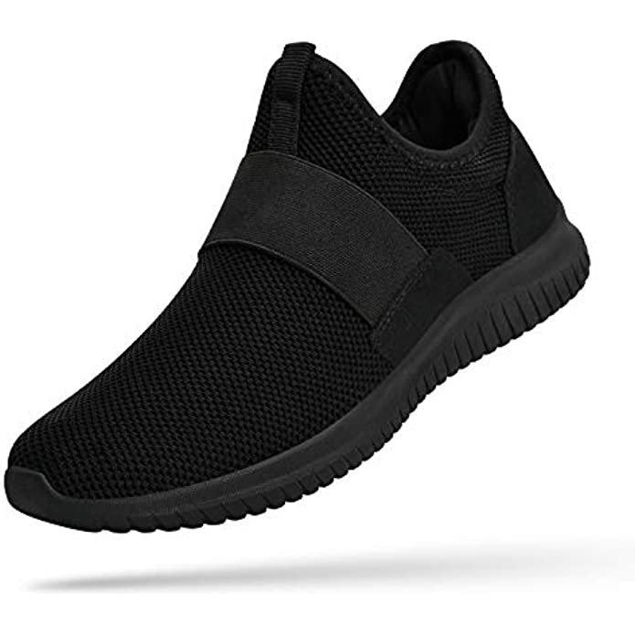 Troadlop Mens Running Tennis Shoes Knitted Breathable Walking Athletic Shoes Fashion Sneakers