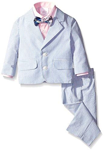 Nautica Baby Seersucker Suit Set Medium Blue 24 Months