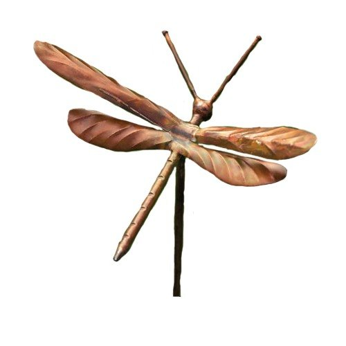 Ancient Graffiti Flamed Copper Dragonfly Garden Ornament (Dragonfly Whirligig)
