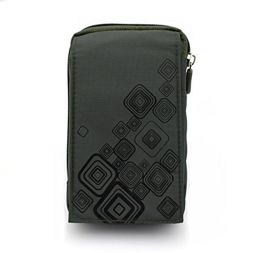 Gendax Universal Sportliche Tasche, Wasserdicht Nylon Beutel,Klettern Tränensack Camping Hüfttaschen für Handy bis zu 5,5