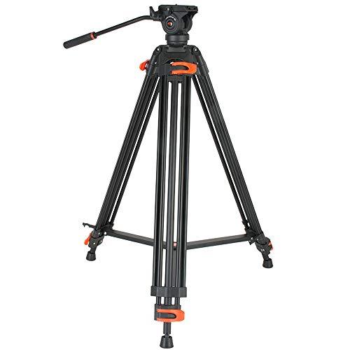 Heavy Duty Tripod,Coman Professional Video Tripod Aluminium 72inch with 360 Degree Fluid Head for Canon Nikon Dslr Camcorder Cameras ()