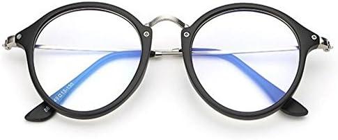 Deylaying 抗放射線 メガネ メンズ/レディース 抗疲労 ブルーライト クリアレンズ ラウンド フレーム コンピューター アイウェア