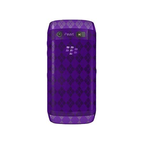 (Amzer Luxe Argyle Skin Case for BlackBerry Pearl 9100 - Purple)