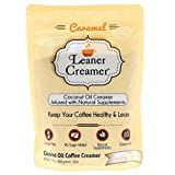 Leaner Creamer Natural Coconut Oil Based Lactose Free Gluten-Free and Sugar-Free Coffee Creamer Powder Infused with Supplements, Creamy Caramel, 280 Gram