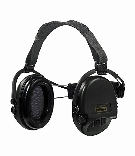 - MSA Sordin Supreme Pro X with black cups - Neckband - Electronic Earmuff, slim-design