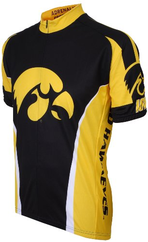 - NCAA Iowa Cycling Jersey, Black/Yellow, Small