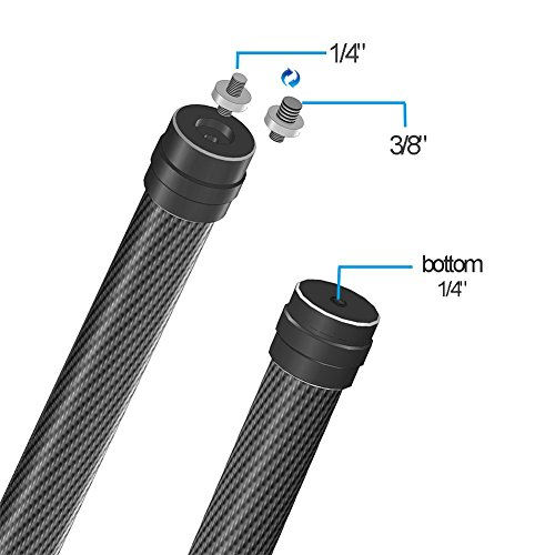 SKYREAT-Carbon-Fiber-137-Inch-Extension-Stick-Monopod-Rod-for-DJI-Ronin-S-Handheld-Gimbal-Stabilizer-fit-with-14-38-Screws
