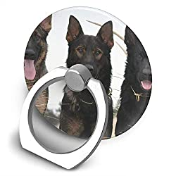 Universal Phone Ring Bracket Holder Black German Shepherd Puppies Finger Grip Stand Holder Ring Car Mount Phone Ring Grip Smartphone Ring Stent Tablet