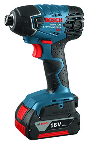 18v Litheon Compact - Bosch 25618-01 18-Volt Lithium-Ion 1/4-Hex Impact Driver Kit with 2 High Capacity Batteries, Charger and Case