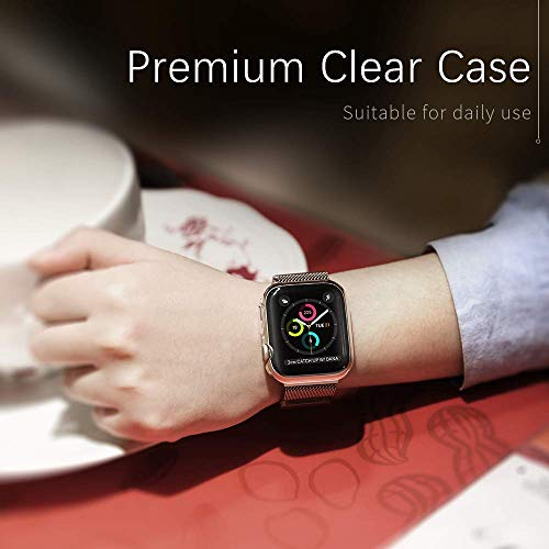 【2 Pack】 CTYBB Compatible with Apple Watch Series 4 Case with Screen Protector, Built in Soft Transparent TPU All Around Protective Cover, Replacement for iWatch Series 4 (40mm) by CTYBB (Image #6)