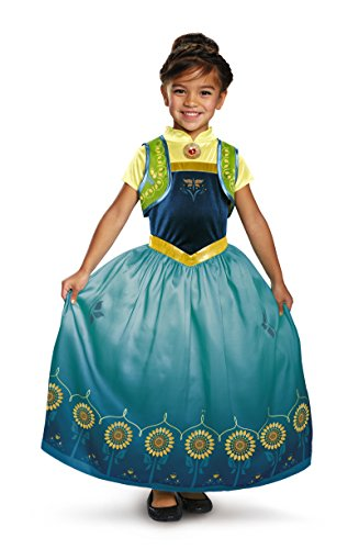 Anna Coronation Dress For Adults (DIS97185 (7-8) Anna Frozen Fever Deluxe Child Dress)
