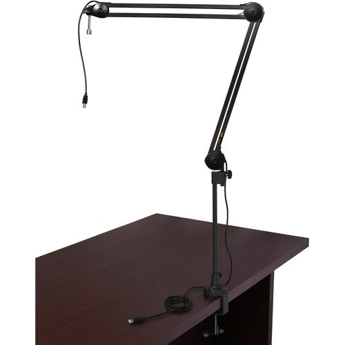 Auray BAI-2U Two-Section Broadcast Arm with Internal Springs and Integrated USB Cable by Auray