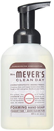 Mrs. Meyers 10 fl oz foam soap 10OZ Foam Hand lavender (pack of 6)