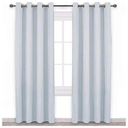 NICETOWN Room Darkening Curtains for Living Room - Easy Care Solid Thermal Insulated Grommet Room Darkening Curtains/Panels/Drapes for Bedroom (2 Panels